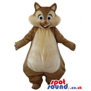 Mascot costume of a fat brown squirrel - Custom Mascots