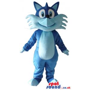 Blue and light-blue fox with big eyes - Custom Mascots