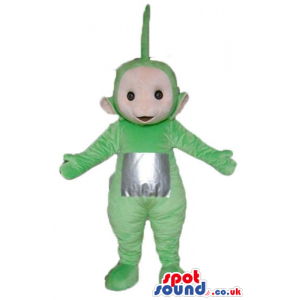 Green teletubby with a silver square on the belly - Custom
