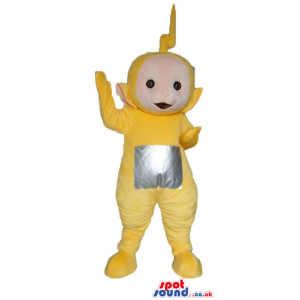 Yellow teletubby with a silver square on the belly - Custom