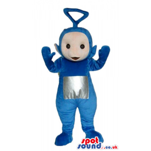 Blue teletubby with a silver square on the belly - Custom