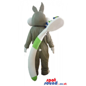 Bugs bunny carrying a white bag and a toothbrush - Custom