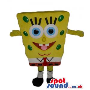 Smiling sponge bob - your mascot in a box! - Custom Mascots