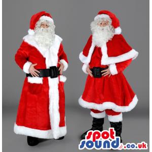 Santa Claus Christmas Holiday Human Mascot With Knee-Length