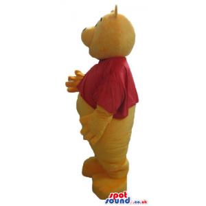 Winnie the pooh wearing a red t-shirt - Custom Mascots