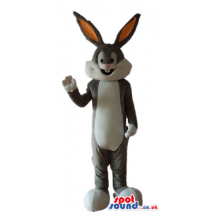 Bugs bunny with long orange and grey ears - Custom Mascots