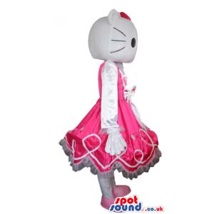 Hello kitty wearing a long sleeveless pink dress - Custom