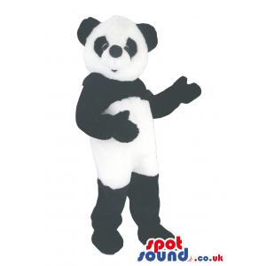 Black And White Customizable Animal Panda Bear Mascot - Custom