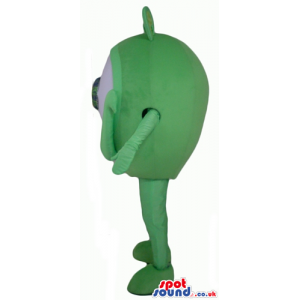 Single eyed green monster with a green eye - Custom Mascots