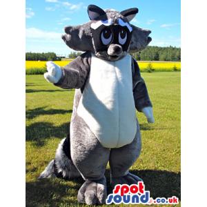 Raccoon Animal Mascot With Grey, White And Black Fur - Custom