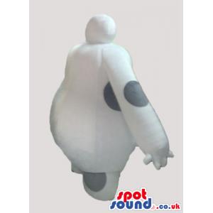 White fat robot - your mascot in a box! - Custom Mascots