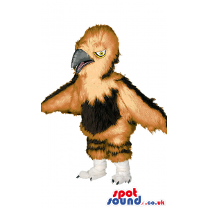 Bird Wildlife Mascot With Beak And Wings In Brown Tones -