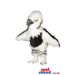White And Black Bird Wildlife Mascot With Beak And Wings -