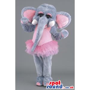 Ballet Dancer Elephant Animal Mascot With Long Trunk - Custom