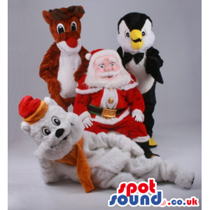 Christmas Varied Plush Mascots With Garments And Gadgets -