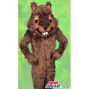 Customizable Brown Squirrel Forest Park Animal Mascot - Custom