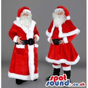 American modern and classical santa costume swith boots and hat