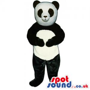 Customizable Black And White Panda Bear Animal Mascot - Custom