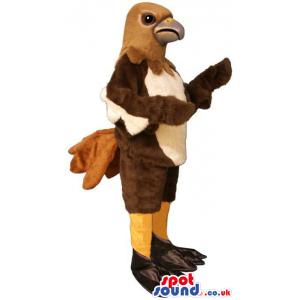 Brown And Beige Plain And Customizable Bird Mascot - Custom