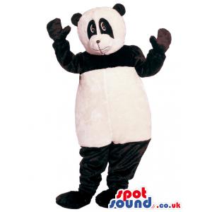 Black And White Panda Bear Animal Mascot Character - Custom