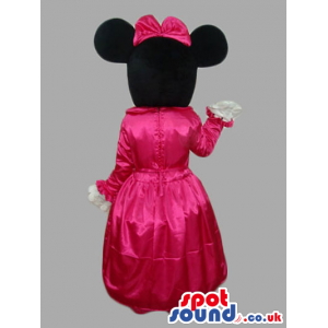 Minnie Mouse Disney Character Mascot Wearing Princess Clothes -