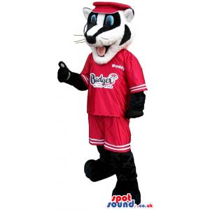 Customizable Black And White Badger Animal Mascot - Custom
