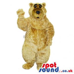 Customizable And Plain Beige Plush Bear Animal Mascot - Custom