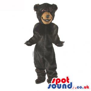 Customizable Plain Dark Brown Plush Bear Animal Mascot - Custom
