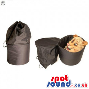 Comfortable Black Rucksack Bag To Transport Your Mascot Safely