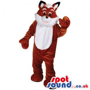 Customizable And Plain Brown And White Fox Animal Mascot -