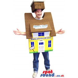 Advertising House Costume For Real Estate Or Property Sales -