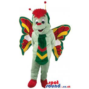 Beautiful butterfly mascot with mixed attractive colours -