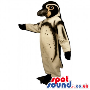 Brown And Black Bird Mascot With Some Dots And Big Beak -