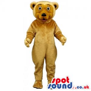 Customizable Plain Beige Bear Mascot With A Brown Face - Custom