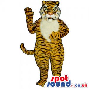Customizable And Plain White Or Orange Tiger Animal Mascot -