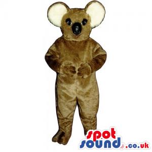 Customizable All Brown Koala Animal Mascot With Round Ears -