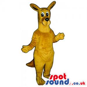 Customizable All Brown Kangaroo Animal Mascot With Cute Face -