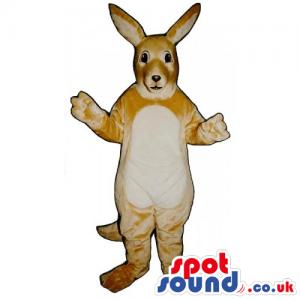 Customizable Very Light Brown Kangaroo Animal Mascot - Custom