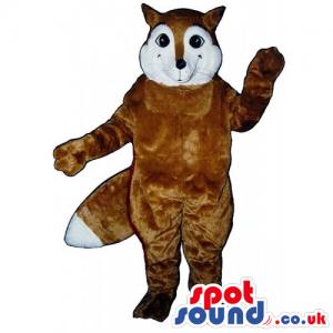 Customizable White And Brown Fox Wildlife Animal Mascot -