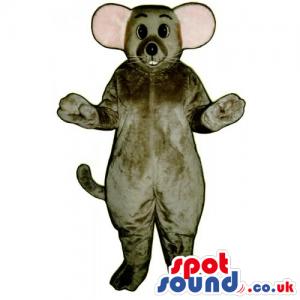 Customizable Grey Mouse Animal Mascot With Pink Ears - Custom
