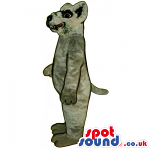 Customizable Grey Rat Animal Mascot With Showing Teeth - Custom
