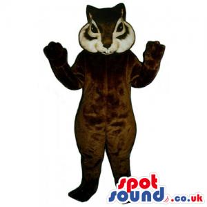 Customizable Brown And White Squirrel Animal Mascot - Custom