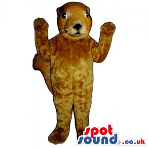 Customizable Plain All Brown Squirrel Animal Mascot - Custom