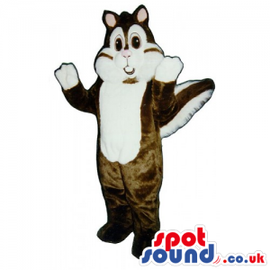 Customizable Brown Chipmunk Mascot With A White Face And Paws -