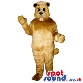 Customizable Funny Light Brown Chipmunk Animal Mascot - Custom