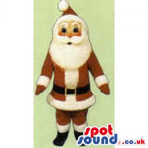 Santa Claus Character Christmas Mascot With White Beard -
