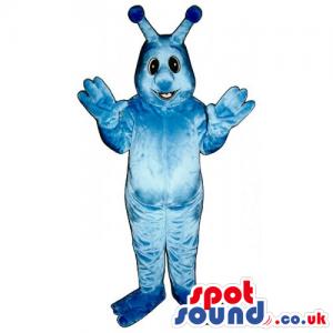 Customizable Cute All Blue Plush Monster Creature Mascot -