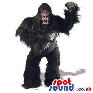 Realistic Black Gorilla King-Kong Character Animal Mascot -