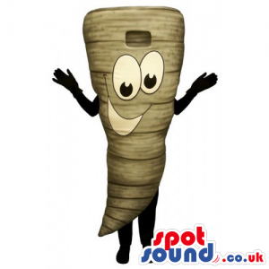 Customizable Turnip Vegetable Mascot With Funny Face - Custom