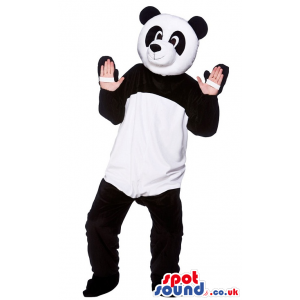 Panda Bear Mascot With Comfortable Option For Your Hands -